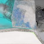 Wider Range / Širší okruh70cm x 160cm acryllic on canvas, glitters, 2009 70cm x 160cm, akryl na plátně, flitry