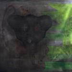 Magnetic Black / Magnetická černáAcryllic on canvas, 81cm x 75cm