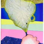 Both Ways Same Time I, II / Oběma směry najednou I, IIakryl na plátně, flitry, 60cm x 50cm, 2012 acryllic on canvas, glitters, 60cm x 50cm
