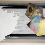 Dark Misunderstandings and Bright Hopes I and II Temná nedorozumění a světlé naděje I a IIacryllic on canvas, 120cm x 140cm , each, 120cm x 420cm together, 2010 akryl na plátně, flitry, 120cm x 140cm, 120cm x 420cm dohromady,