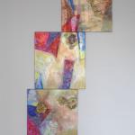 Both Ways Same Time / Oběma směry najednouacryllic on canvas, glitters, 60cm x 50cm /  akryl na plátně, flitry, 60cm x 50cm