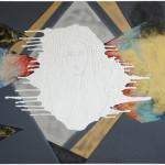 The Unknown Known I-III / Známá neznáma I-IIIacryllic on canvas, 140cm x 160cm, 140 x 480 together, 2010 akryl na plátně, flitry, 140cm x 160cm, 140cm x 480cm dohromady