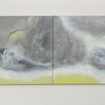 Almost Alwaystwo painting to form one, 50cm x 60cm each,  acryllic on canvas Témeř pořád 2 obrazy tvořící jeden, 50cm x 60cm každý, akryl na plátně