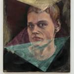 Version of Memory (portrét) 40cm x 35cm, oil and acrylic on canvas  Verze paměti 40cm x 35cm, olej a akryl na plátně
