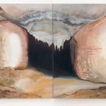 Space Dust Leftovers AZbytky hvězdného prachu  2 x 135cm x 130cm, acrylic and oil painting on canvas  2 x 135cm x 130cm, akryl a olej na plátně