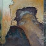 Walls Around Borders AZdi kolem hranic3 painting to form one, 50cm x 60cm each, 50cm x 180cm together, oil on canvas 3 obrazy tvořící jeden, 50cm x 60cm každý, 50cm x 180cm dohromady, olej na plátně