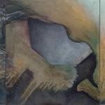 Walls Around Borders BZdi kolem hranic3 painting to form one, 50cm x 60cm each, 50cm x 180cm together, oil on canvas 3 obrazy tvořící jeden, 50cm x 60cm každý, 50cm x 180cm dohromady, olej na plátně