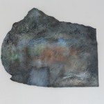 Sediment (Concrete) #2 100 cm x 65cm, wooden construction, concrete clay infusion, pigments