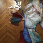 Light installation Reality is Illusion / Illusion is Reality kov, neonová trubice, plátno  metal construction, neon light, canvas