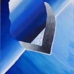 Hyper Saturation (#blue I) 150 cm x 156 cm, acrylic on canvas, concrete infused structure Úplné nasycení (#modrá I) 150 cm x 156 cm, akryl na plátně, struktura napuštěná betonovou infuzí
