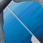 Hyper Saturation (#blue II) 75 cm x 83 cm, acrylic on canvas, concrete infused structure Úplné nasycení (#modrá II) 75 cm x 83 cm, akryl na plátně, struktura napuštěná betonovou infuzí