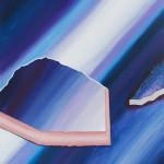 Hyper Saturation (#purple I) 150 cm x 156 cm, acrylic on canvas, concrete infused structure Úplné nasycení (#fialová I) 150 cm x 156 cm, akryl na plátně, struktura napuštěná betonovou infuzí