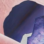 Hyper Saturation (#purple II) 75 cm x 83 cm, acrylic on canvas, concrete infused structure Úplné nasycení (#fialová II) 75 cm x 83 cm, akryl na plátně, struktura napuštěná betonovou infuzí
