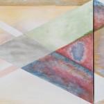Even if it is, Even if it isn`t  two canvases forming one, acrylic and oil on canvas, 70 cm x 50 cm and 30 cm x 50 cm   I když to je, i když to není  dvě plátna tvořící jedno, akryl a olej na plátně, 70 cm x 50 cm and 30 cm x 50 cm