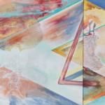 Human / Non-Human  acrylic and oil on canvas, 110cm x 90cm  Člověk / Nečlověk akryl a olej na plátně, 110cm x 90cm