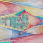 You will...You are…  two canvases forming one, acrylic and oil on canvas, 90 cm x 110 cm and 70 cm x 90 cm   Budeš...jsi dvě plátna tvořící jedno, akryl a olej na plátně, 90 cm x 110 cm a 70 cm x 90 cm